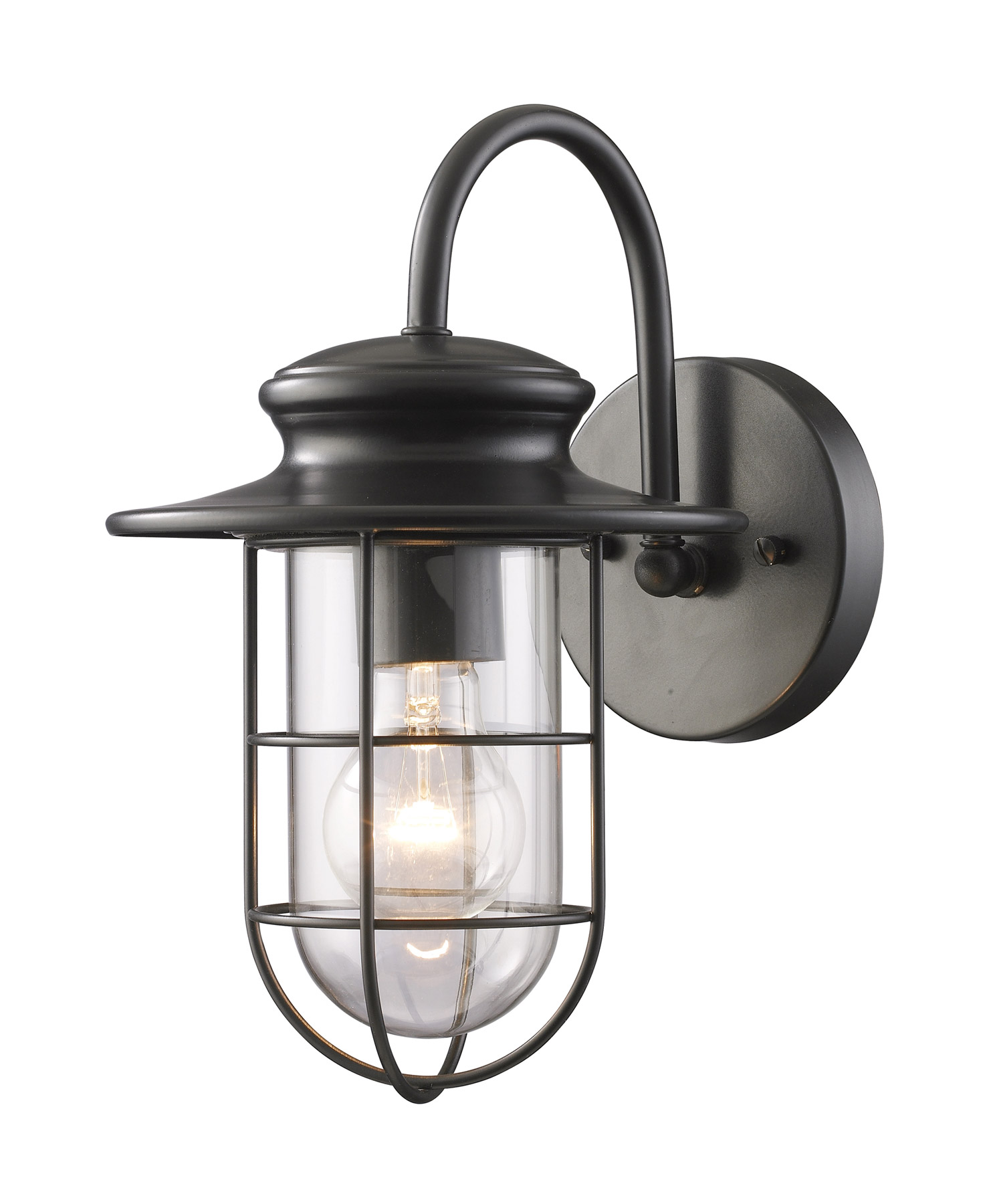 Elk lighting 42284 1 portside outdoor wall mount lantern for Industrial outdoor lighting