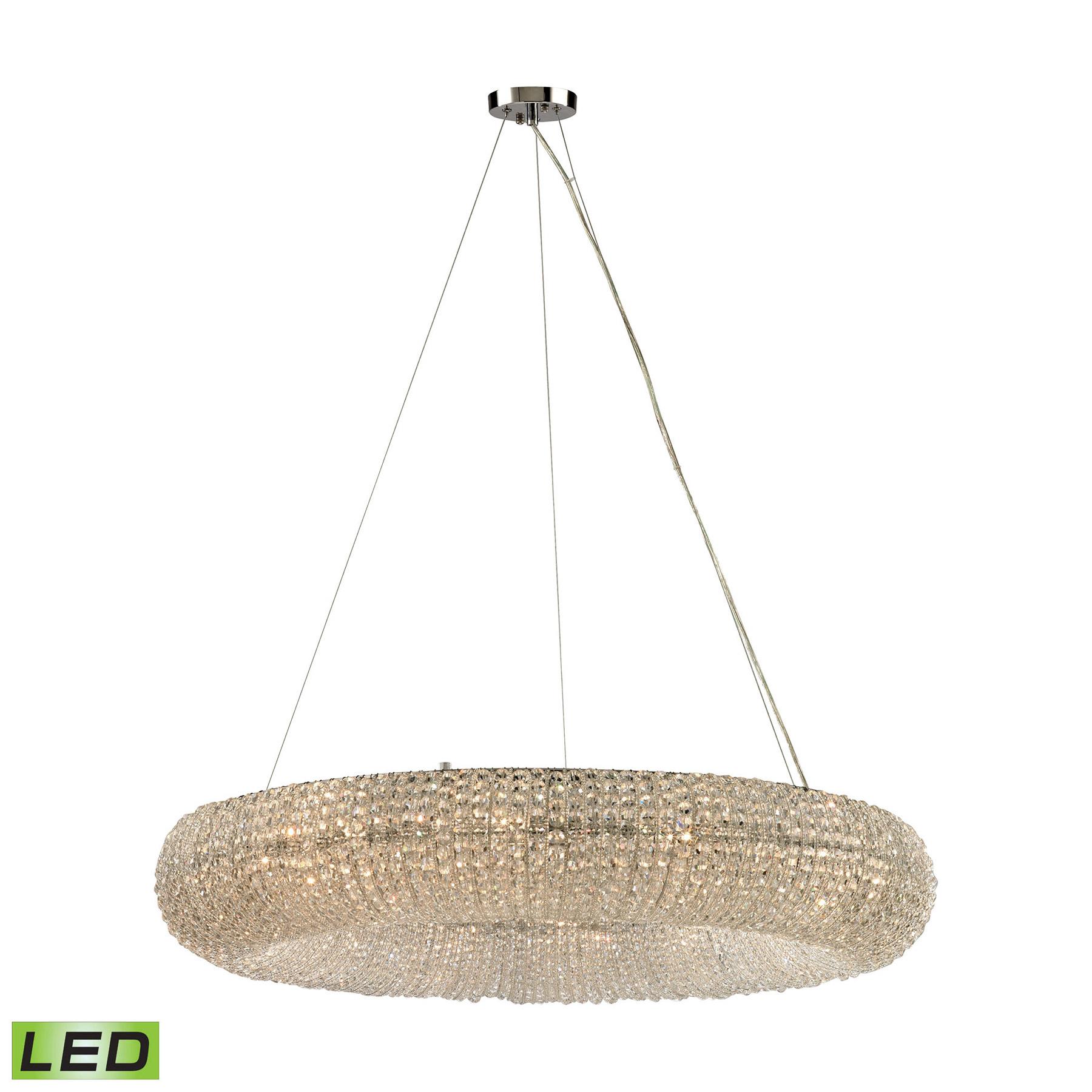 Lighting 12 LED Crystal Crystal Ring 12 Light LED Chandelier