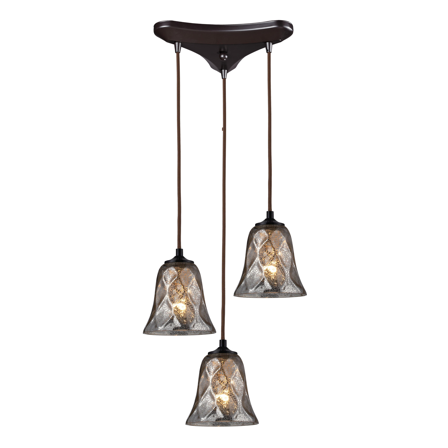 Elk Lighting 46000 3 Darien 3 Light Multi Pendant Ceiling