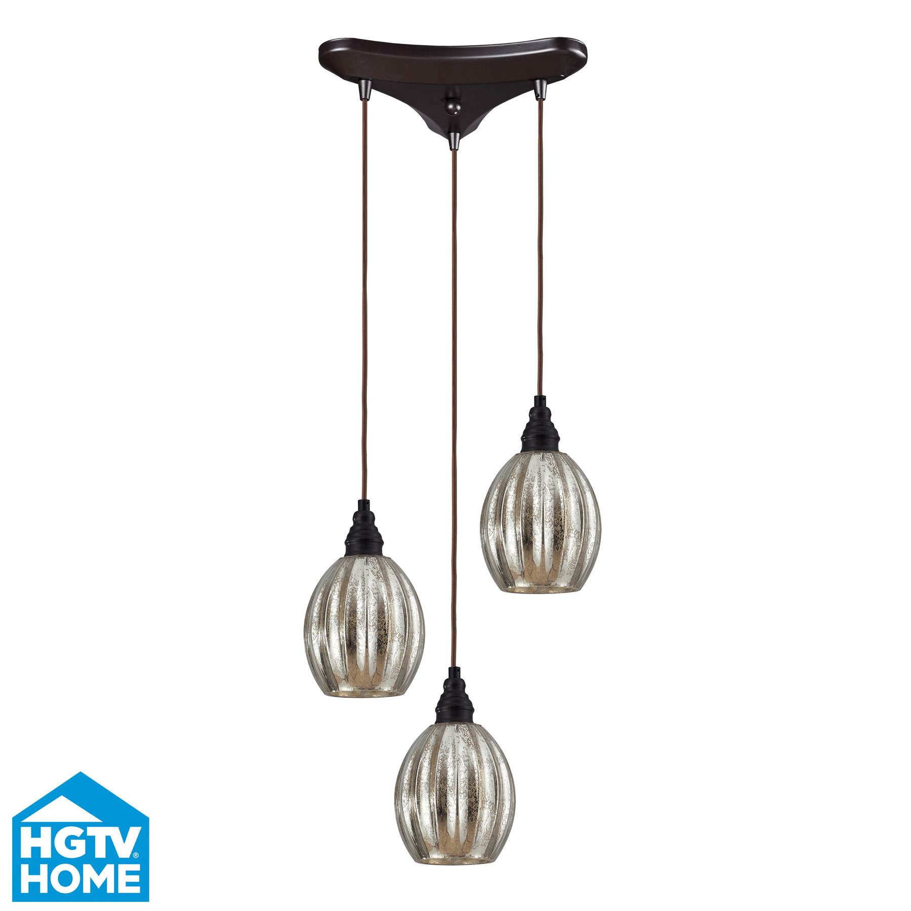 Elk Lighting 46007/3 Danica 3 Light Multi Pendant Ceiling