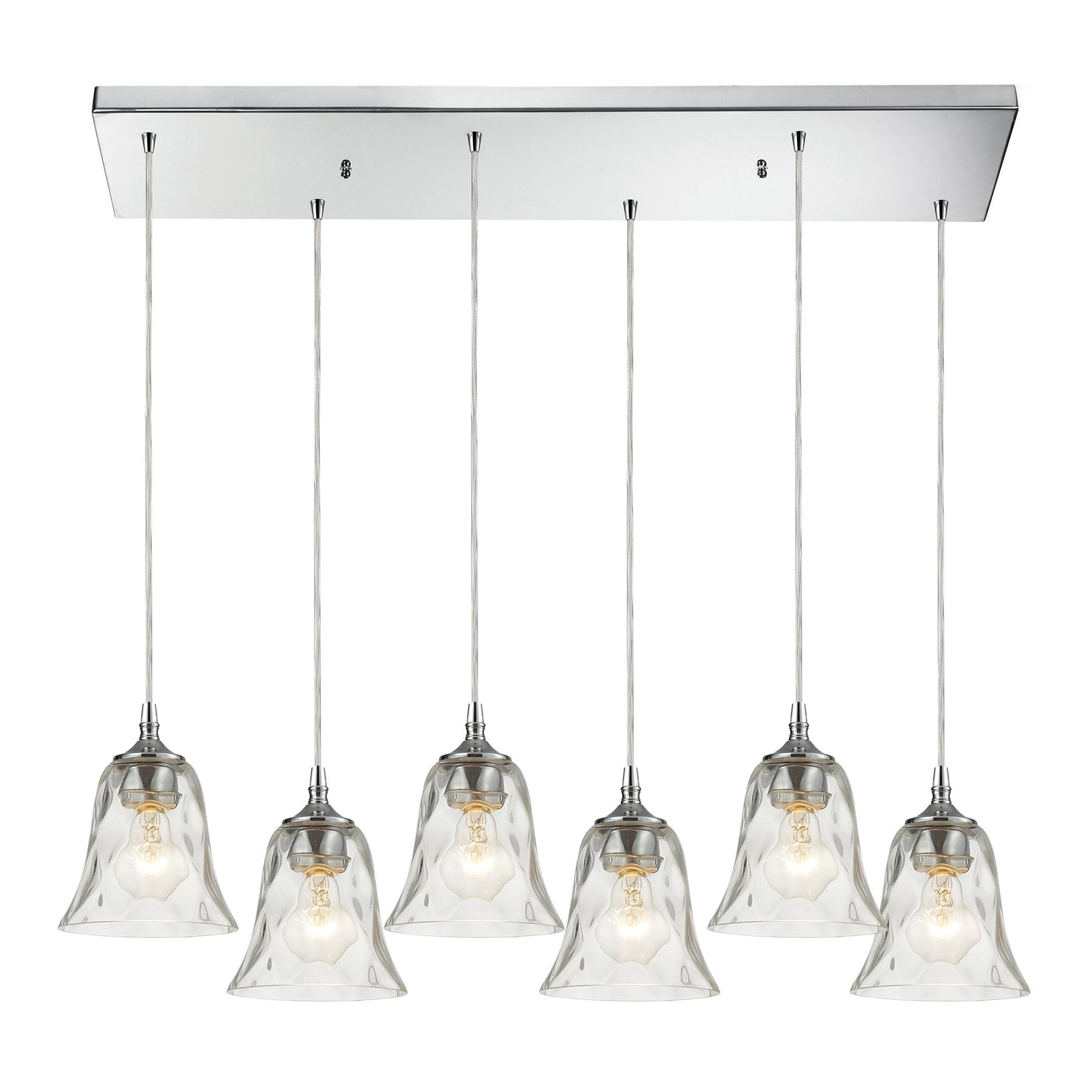 elk lighting 46010 6rc darien 6 light multi pendant ceiling fixture