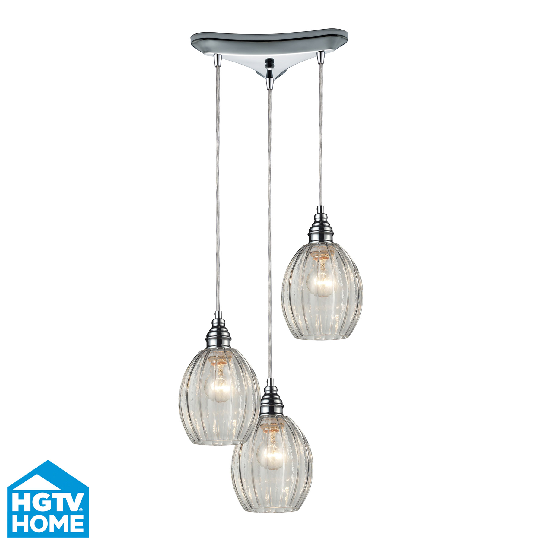 Elk Lighting 46017/3 Danica 3 Light Multi Pendant Ceiling