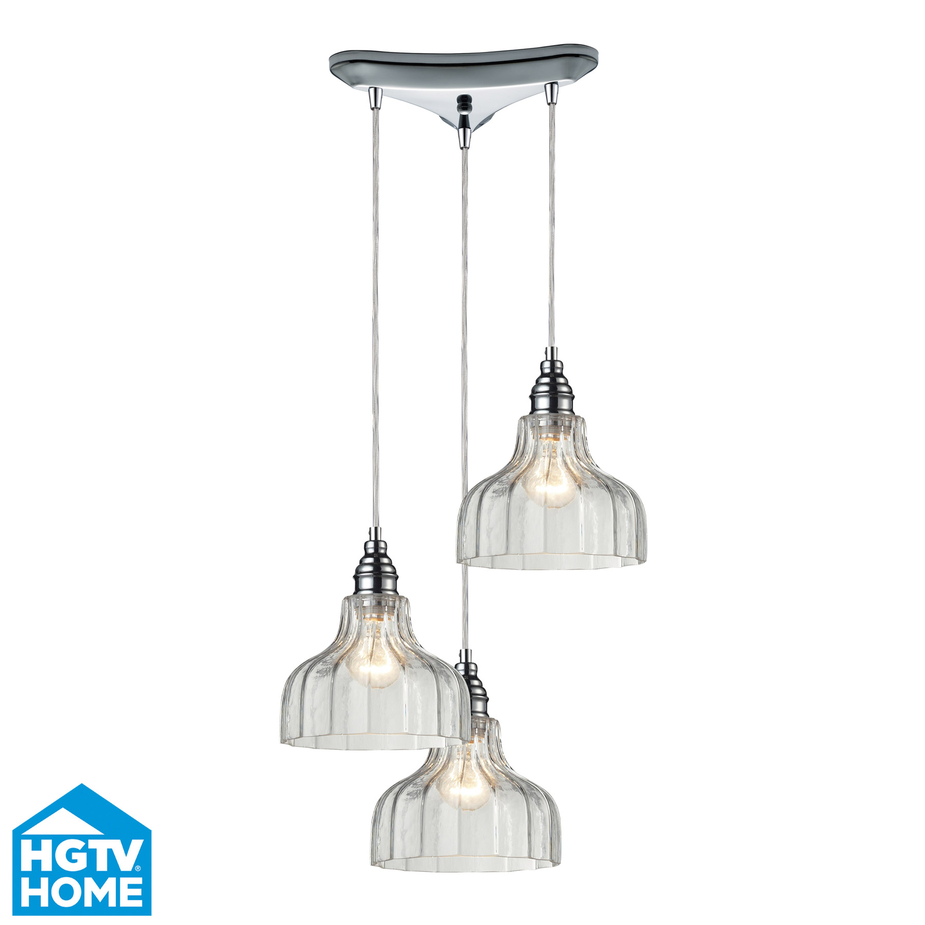 Elk Lighting 46018/3 Danica 3 Light Multi Pendant Ceiling