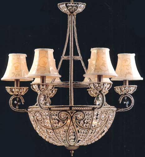 Elk Lighting 5967 6 4 Crystal Elizabethan Ten Light Chandelier