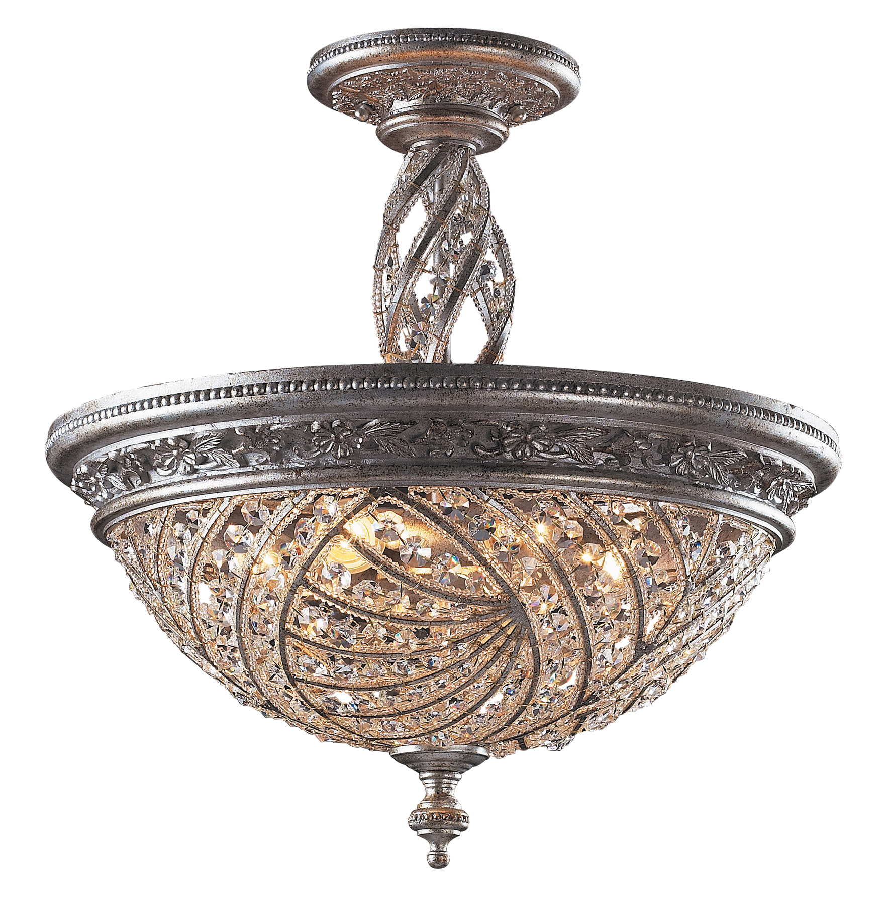 Elk Lighting 6233 6 Crystal Renaissance Semi Flush Mount