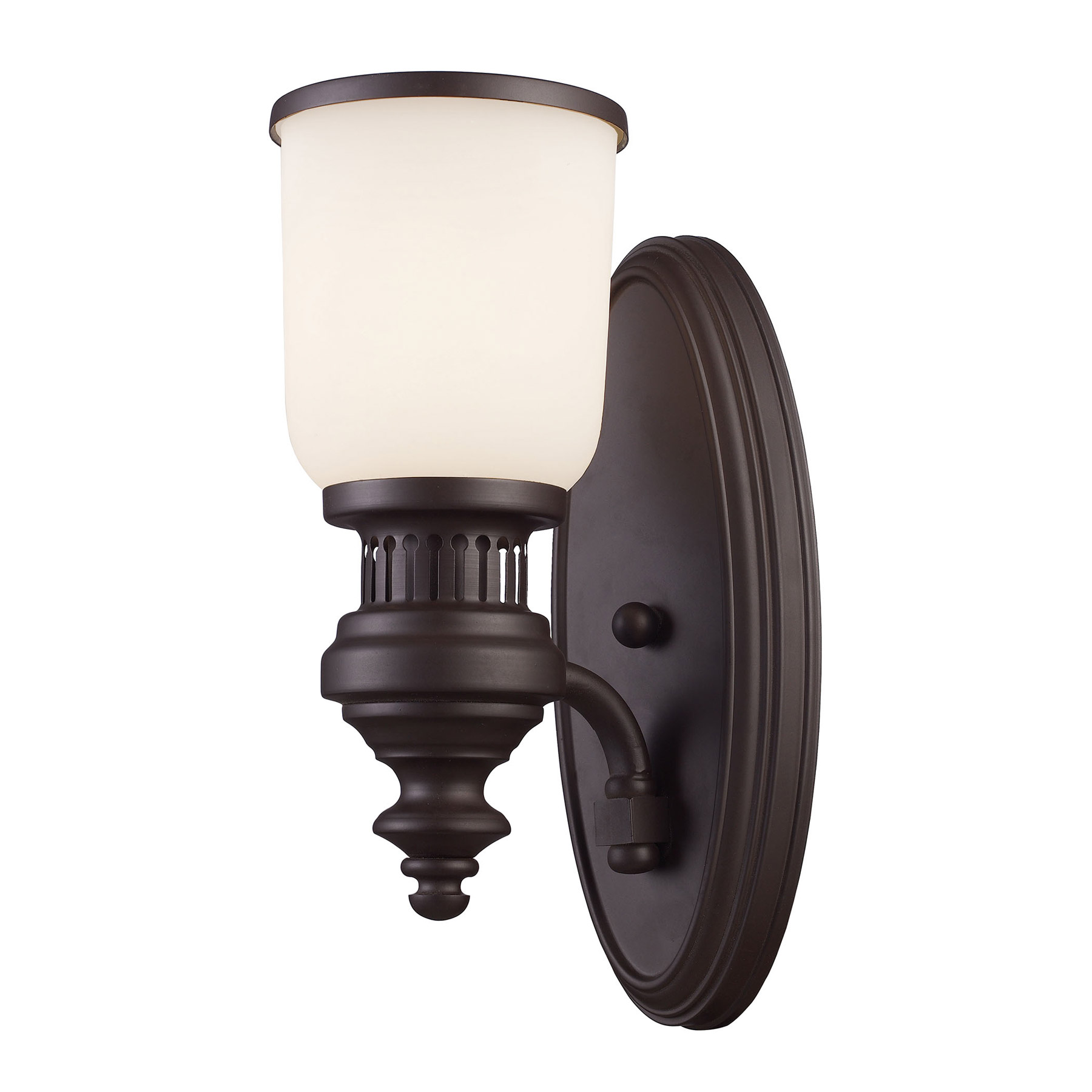 Elk Lighting 66630 1 Chadwick Light Wall Sconce In Oiled