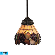 Elk Lighting 078-TB-07-LED Mix-N-Match 1 Light LED Pendant In Vintage Antique And Stained Glass