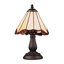 Elk Lighting 080-TB-03 Tiffany Mix-N-Match 1 Light Table Lamp In Tiffany Bronze And Honey Dune Glass