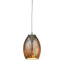 Elk Lighting 10256/1 Venture 1 Light Pendant In Satin Nickel