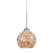 Elk Lighting 10731/1 1-Light Mini Pendant in Polished Chrome with Painted Mosaic Glass