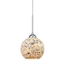 Elk Lighting 10741/1 1-Light Mini Pendant in Polished Chrome with Mosaic Glass