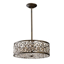 Elk Lighting 11287/6 Crystal Amherst Pendant