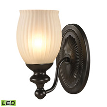 Elk Lighting 11650/1-LED Park Ridge 1 Light LED Vanity In Oil Rubbed Bronze And Reeded Glass