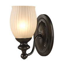 Elk Lighting 11650/1 Park Ridge 1 Light Vanity In Oil Rubbed Bronze And Reeded Glass