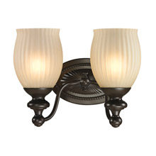 Elk Lighting 11651/2 Park Ridge 2 Light Vanity In Oil Rubbed Bronze And Reeded Glass