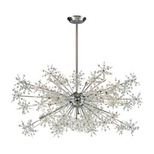 Elk Lighting 11896/20 Crystal Snowburst 20 Light Chandelier In Polished Chrome