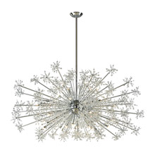Elk Lighting 11897/30 Crystal Snowburst 30 Light Chandelier In Polished Chrome