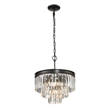 Elk Lighting 14212/3+1 Crystal Palacial 4 Light Pendant In Oil Rubbed Bronze