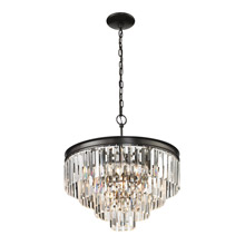 Elk Lighting 14213/4+1 Crystal Palacial 5 Light Pendant In Oil Rubbed Bronze