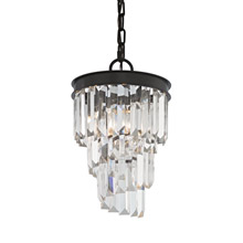 Elk Lighting 14216/1 Crystal Palacial 1 Light Pendant In Oil Rubbed Bronze