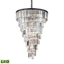 Elk Lighting 14219/14-LED Crystal Palacial 14 Light LED Chandelier In Oil Rubbed Bronze