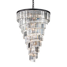 Elk Lighting 14219/14 Crystal Palacial 14 Light Chandelier In Oil Rubbed Bronze