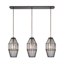 Elk Lighting 14248/3LP Crystal Yardley 3 Light Pendant In Oil Rubbed Bronze