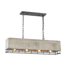 Elk Lighting 14323/4 Brocca 4 Light Chandelier In Silverdust Iron