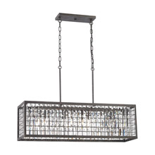Elk Lighting 14341/4 Crystal Nadina 4 Light Chandelier In Silverdust Iron