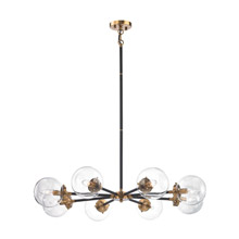 Elk Lighting 14433/8 Boudreaux 8 Light Chandelier In Matte Black And Antique Gold
