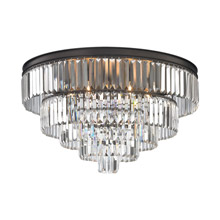Elk Lighting 15226/6 Crystal Palacial 6 Light Chandelier In Oil Rubbed Bronze