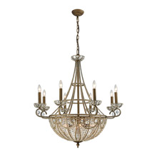 Elk Lighting 15968/8+6 Crystal Elizabethan 14 Light Chandelier In Dark Bronze