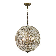 Elk Lighting 15975/8 Crystal Elizabethan 8 Light Pendant In Dark Bronze