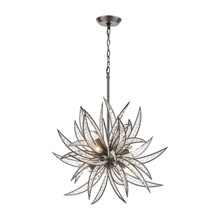 Elk Lighting 16364/8 Naples 8 Light Pendant in Dark Graphite with Clear Crystal