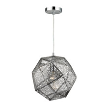 Elk Lighting 17190/1 Roxa 1 Light Pendant In Polished Chrome
