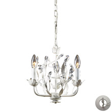 Elk Lighting 18112/3-LA Crystal Circeo 3 Light Chandelier In Antique White
