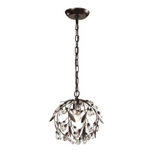 Elk Lighting 18133/1 Crystal Circeo 1 Light Mini Pendant In Deep Rust