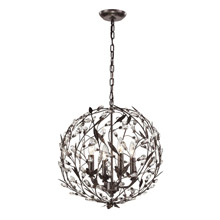 Elk Lighting 18134/4 Crystal Circeo 4 Light Pendant In Deep Rust