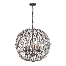Elk Lighting 18135/5 Crystal Circeo 5 Light Pendant In Deep Rust