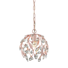Elk Lighting 18150/1 Crystal Circeo 1 Light Pendant In Light Pink