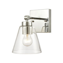 Elk Lighting 18343/1 1-Light Vanity Light in Polished Chrome with Clear Glass