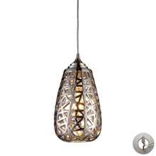 Elk Lighting 20064/1-LA Nestor 1 Light Pendant In Polished Chrome And Chrome Plated Ceramic Shade
