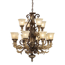 Elk Lighting 2165/8+4 Regency Twelve Light Chandelier