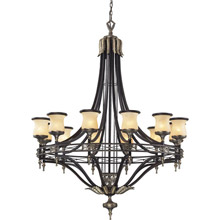 Elk Lighting 2434/12 Georgian Court Multi-Tiered Large Chandelier