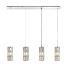 Elk Lighting 31486/4LP Crystal Cynthia 4 Light Linear Pendant In Polished Chrome