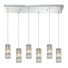 Elk Lighting 31486/6RC Crystal Cynthia 6 Light Pendant In Polished Chrome And Clear K9 Crystal
