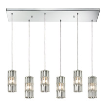 Elk Lighting 31487/6RC Crystal Cynthia 6 Light Pendant In Polished Chrome And Clear K9 Crystal