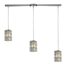 Elk Lighting 31488/3L Crystal Cynthia 3 Light Pendant In Polished Chrome And Clear K9 Crystal