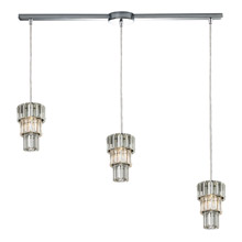 Elk Lighting 31489/3L Crystal Cynthia 3 Light Pendant In Polished Chrome And Clear K9 Crystal