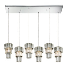 Elk Lighting 31489/6RC Crystal Cynthia 6 Light Pendant In Polished Chrome And Clear K9 Crystal